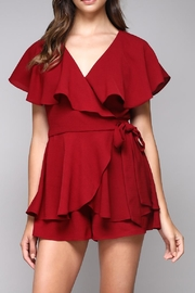 Do & Be Ruffle Wrap Romper - Front cropped