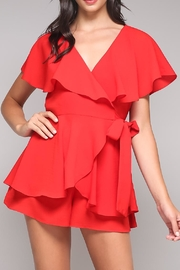 Do & Be Ruffle Wrap Romper - Product Mini Image