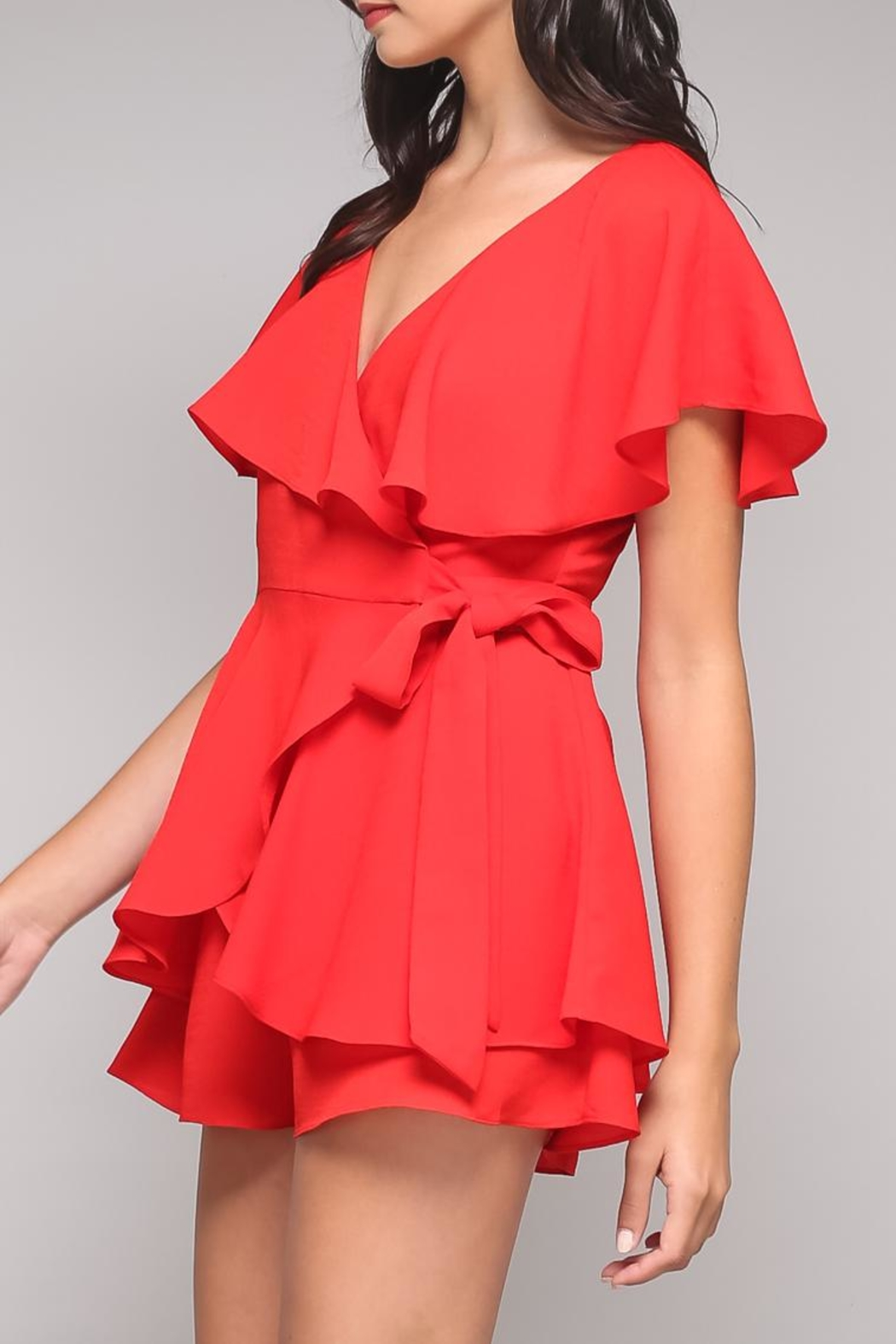 Do & Be Ruffle Wrap Romper - Side Cropped Image