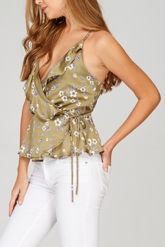 Emory Park Ruffle Wrap Woven Top - Product List Image