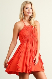 People Outfitter Ruffle X-Back Dress - Product Mini Image