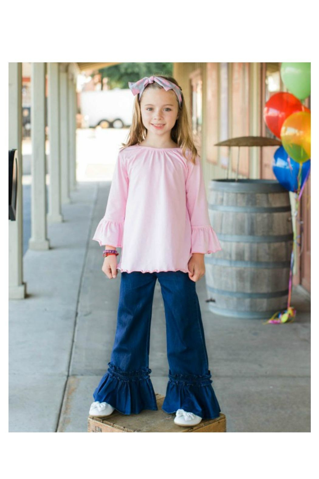96083120f Ruffle Butts Denim Ruffle Pants from Alabama by Little Cottontail ...