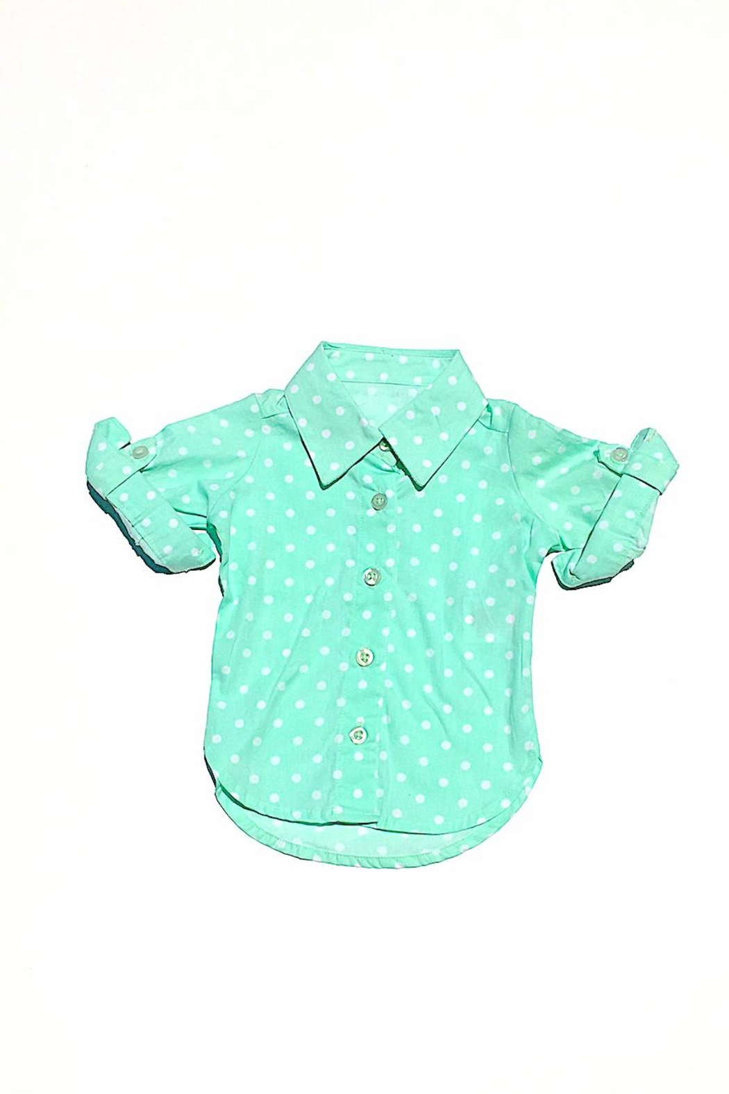 Ruffle Butts Polka Dot Top - Front Cropped Image