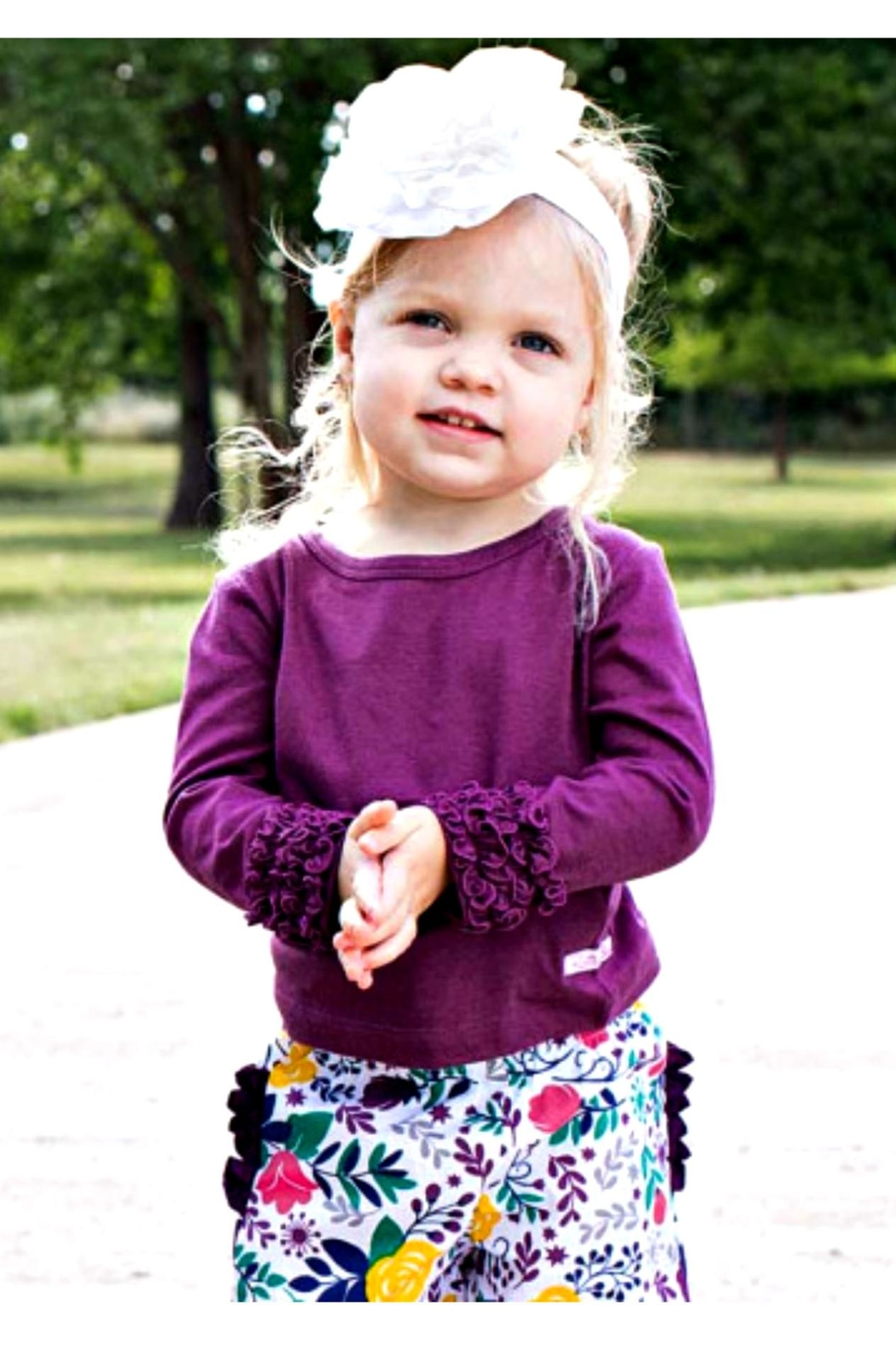 Ruffle Butts Ruffle Sleeve Top - Front Full Image