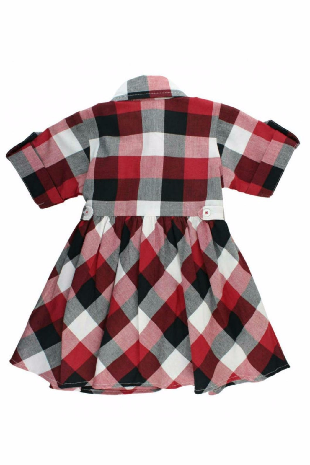 RuffleButts Plaid Babydoll Dress - Side Cropped Image