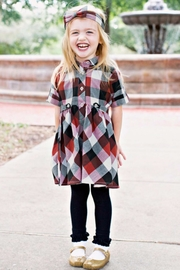 RuffleButts Plaid Babydoll Dress - Front cropped