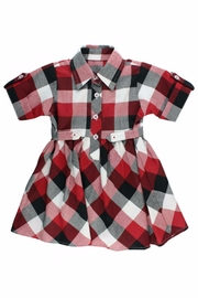 RuffleButts Plaid Babydoll Dress - Front full body