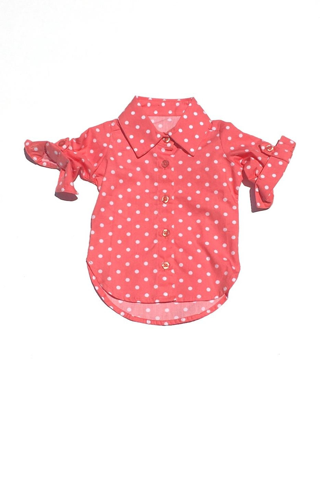 RuffleButts Polka Dot Top - Front Cropped Image