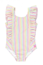 RuffleButts Rainbow Waterfall Suit - Front cropped