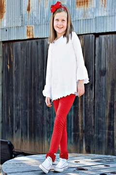 Shoptiques Product: Red Ruffle Legging
