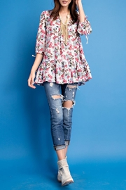 easel Ruffled-Babydoll Loose-Fit Tunic - Product Mini Image