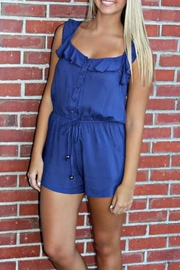 Ya Los Angeles Ruffled Bethany Romper - Front cropped