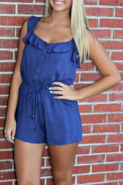 Ya Los Angeles Ruffled Bethany Romper - Front full body
