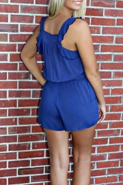 Ya Los Angeles Ruffled Bethany Romper - Back cropped