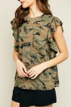 Hayden Los Angeles Ruffled Camo Tank - Alternate List Image