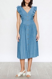 Flying Tomato Ruffled Chambray Midi - Product Mini Image