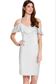 Adrianna Papell Ruffled Cold-shoulder Short Dress - Product Mini Image