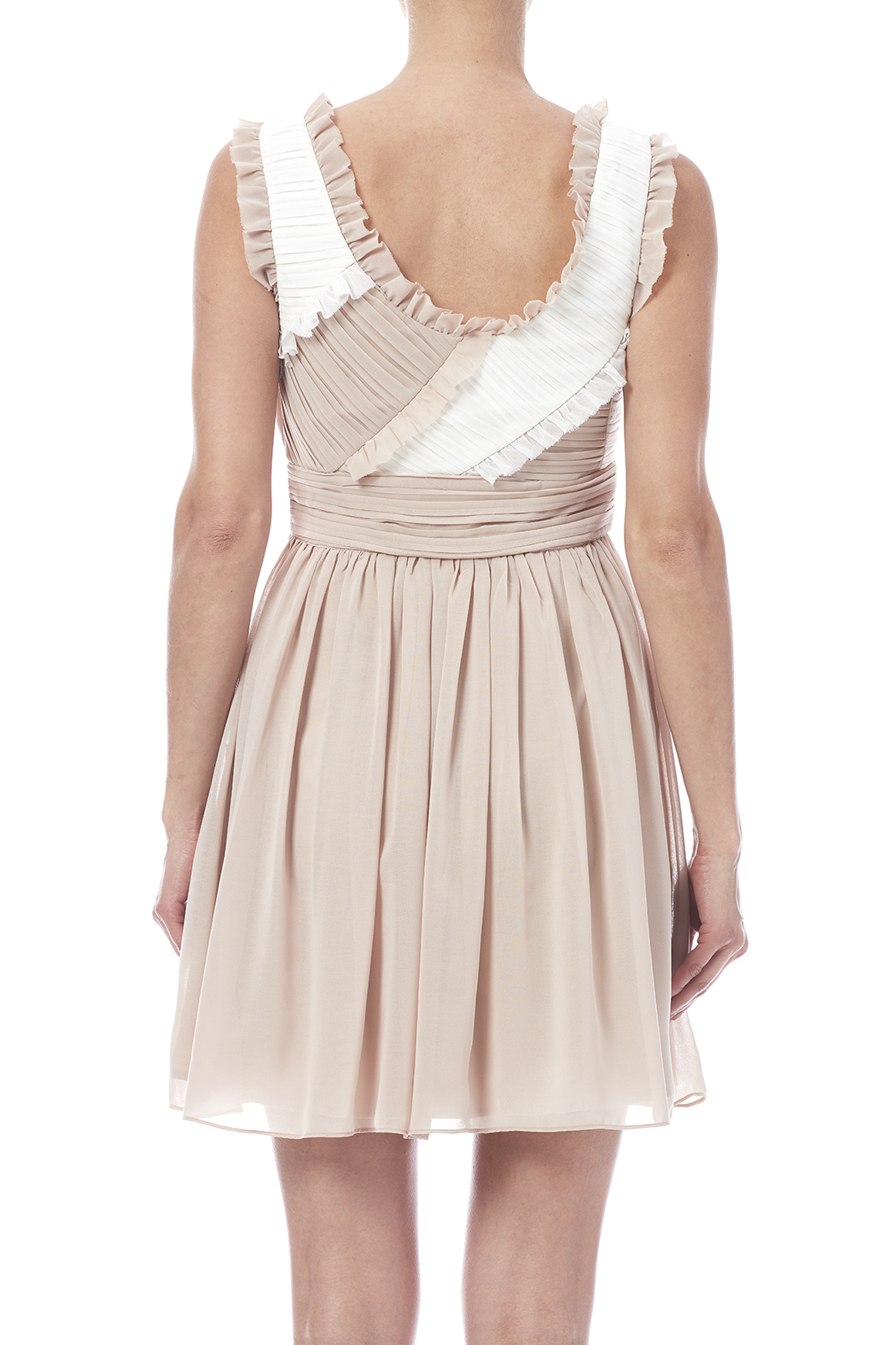 Minuet Ruffled Dress - Back Cropped Image
