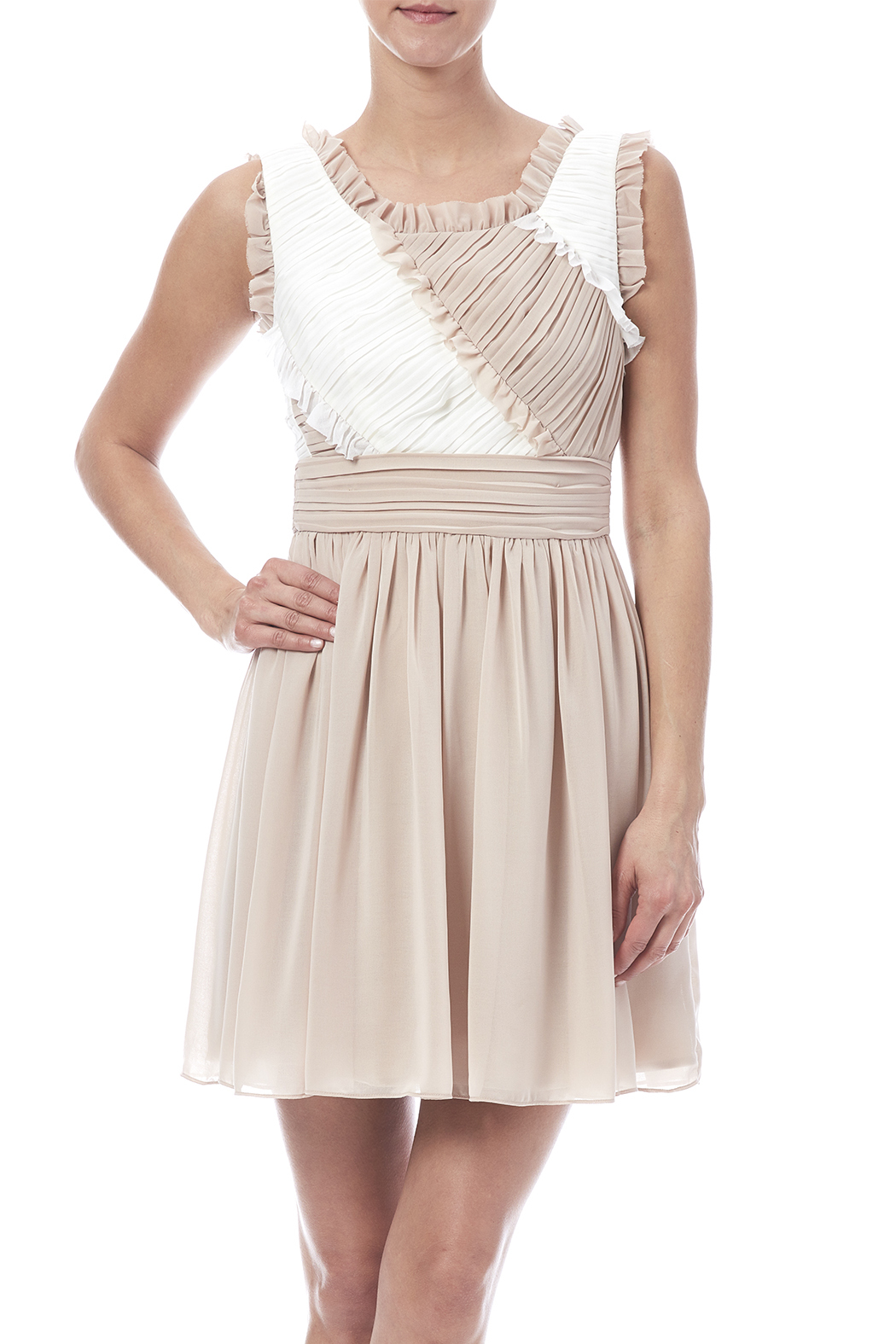 Minuet Ruffled Dress - Front Cropped Image