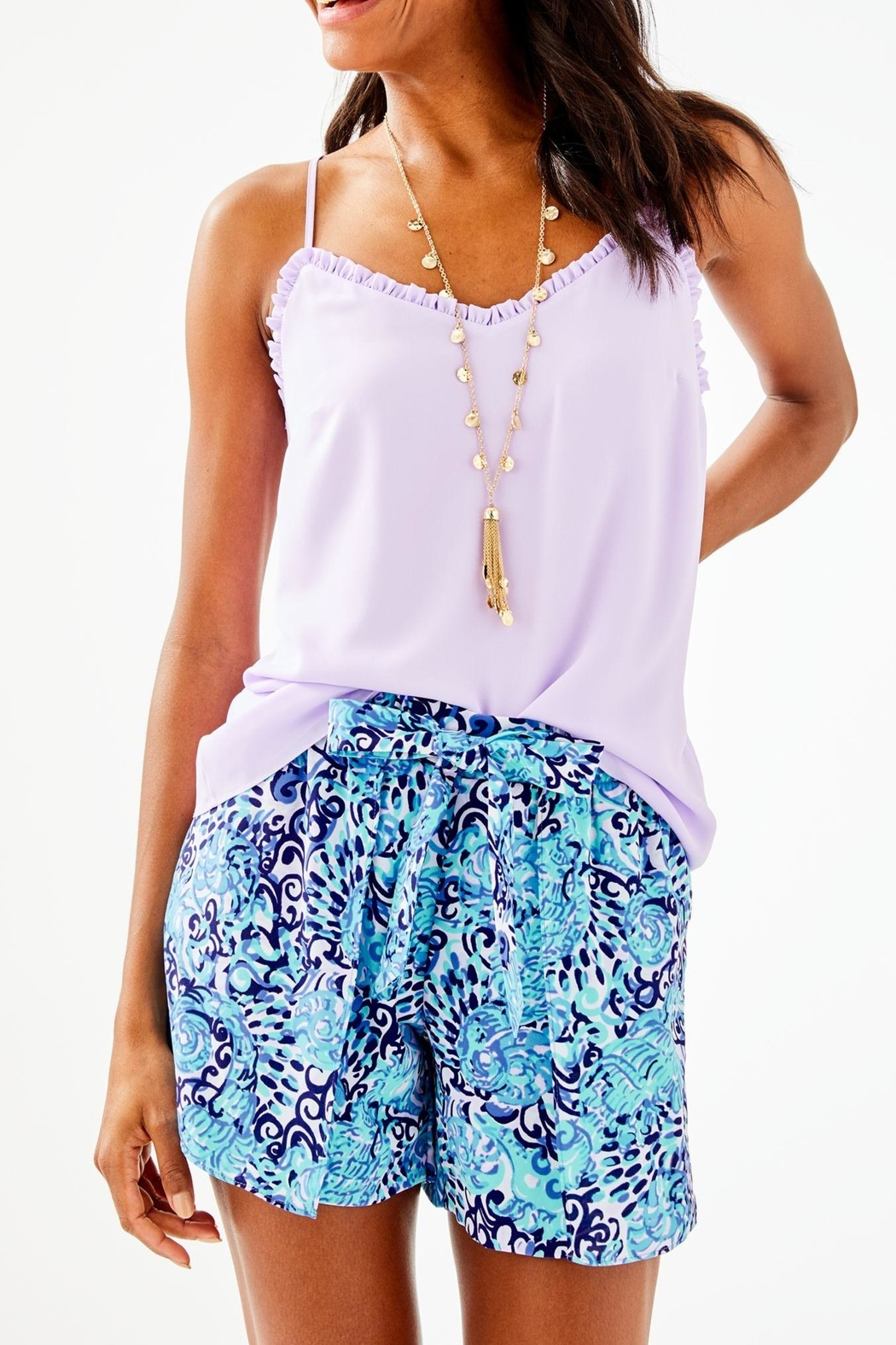 Lilly Pulitzer Ruffled Dusk Top - Main Image
