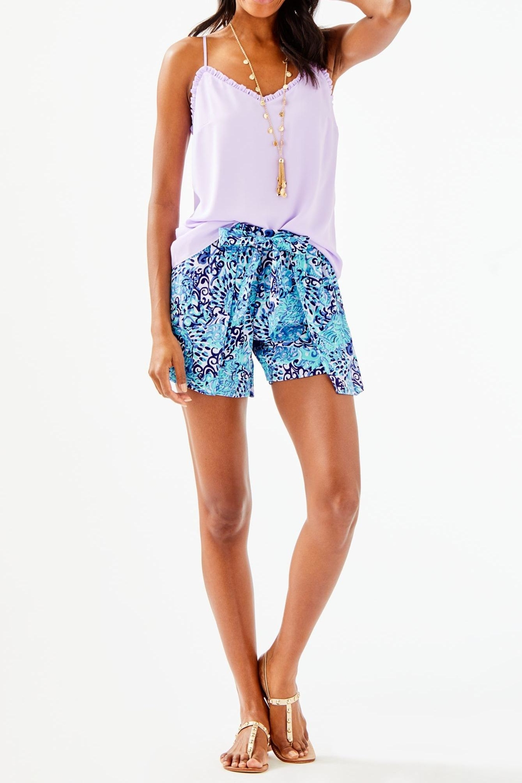 Lilly Pulitzer Ruffled Dusk Top - Side Cropped Image