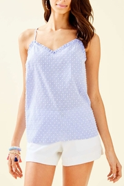 Lilly Pulitzer Ruffled Dusk Top - Product Mini Image