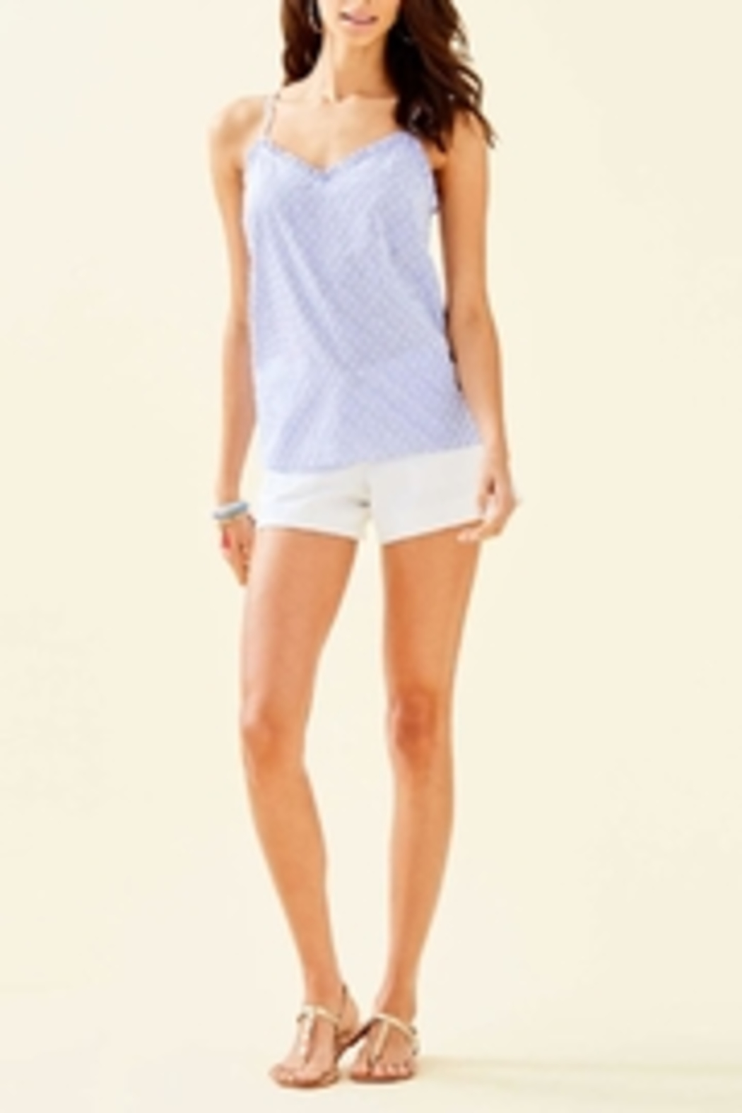Lilly Pulitzer Ruffled Dusk Top - Front Full Image