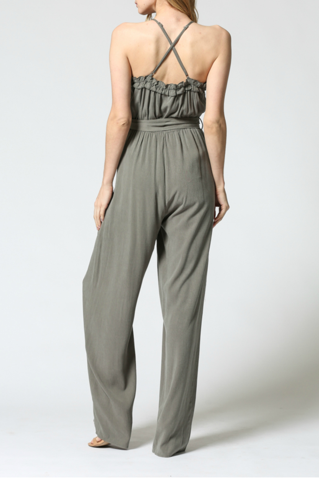 FATE by LFD Ruffled edge jumpsuit - Side Cropped Image