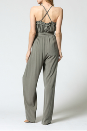 FATE by LFD Ruffled edge jumpsuit - Side cropped