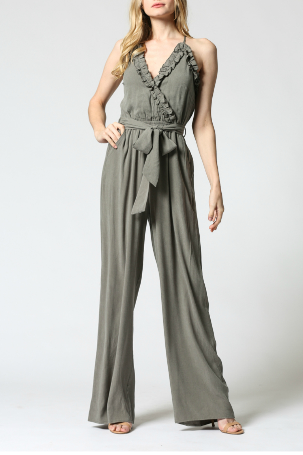 FATE by LFD Ruffled edge jumpsuit - Main Image