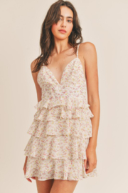 Mable Ruffled Floral Dress - Product Mini Image