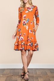 Riah Fashion Ruffled-Floral Pocket Dress - Product Mini Image