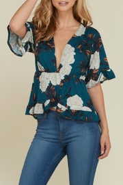 Heart & Hips Ruffled Floral Top - Product Mini Image
