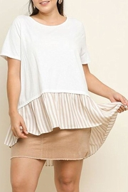 Umgee USA Ruffled Hem Top - Front cropped