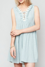 Hayden Los Angeles Ruffled Lace-Up Dress - Product Mini Image