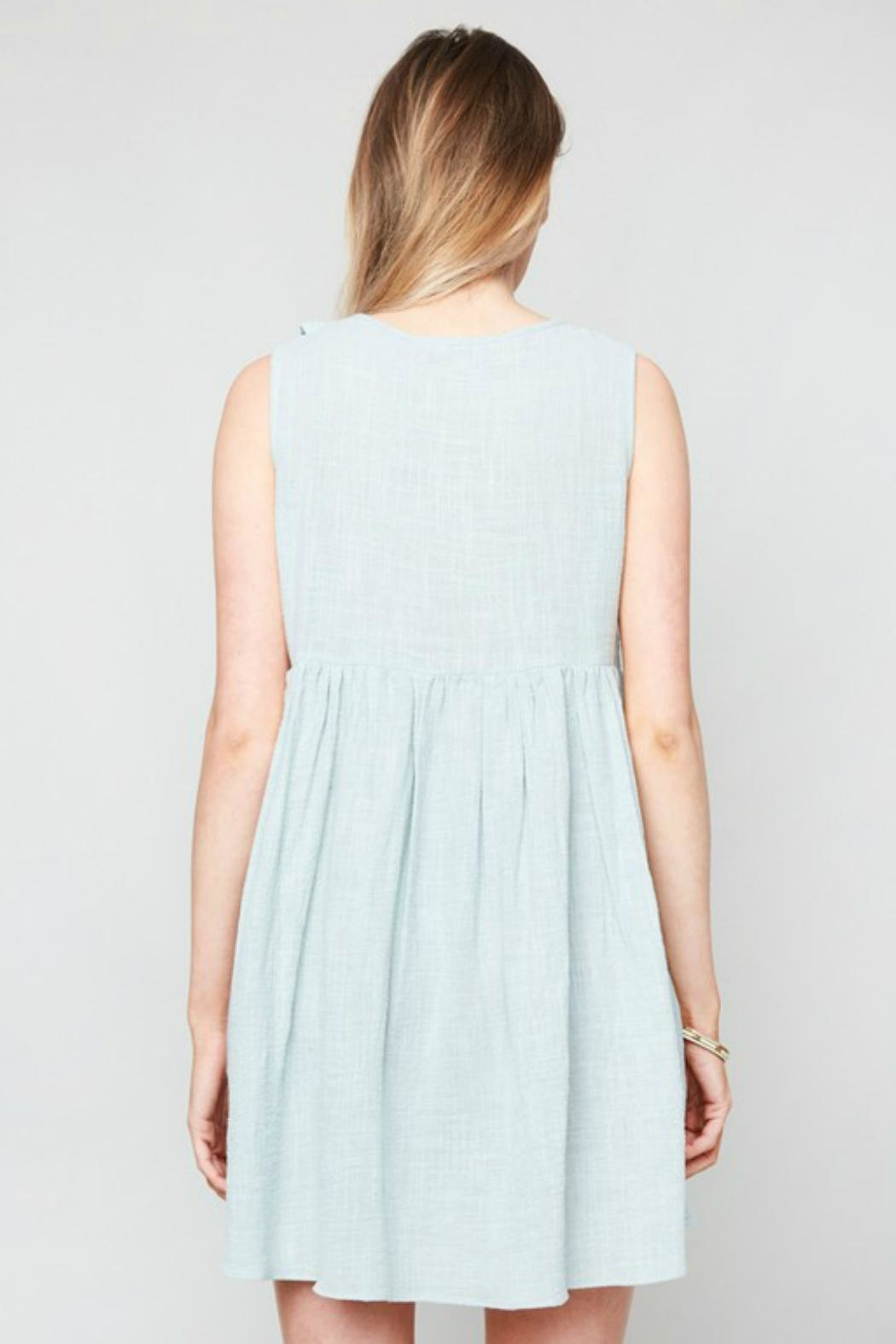 Hayden Los Angeles Ruffled Lace-Up Dress - Front Full Image