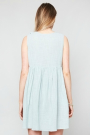 Hayden Los Angeles Ruffled Lace-Up Dress - Front full body