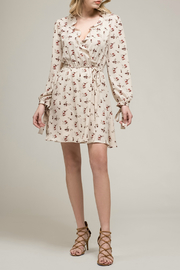 Moon River Ruffled Long sleeve dress - Front cropped