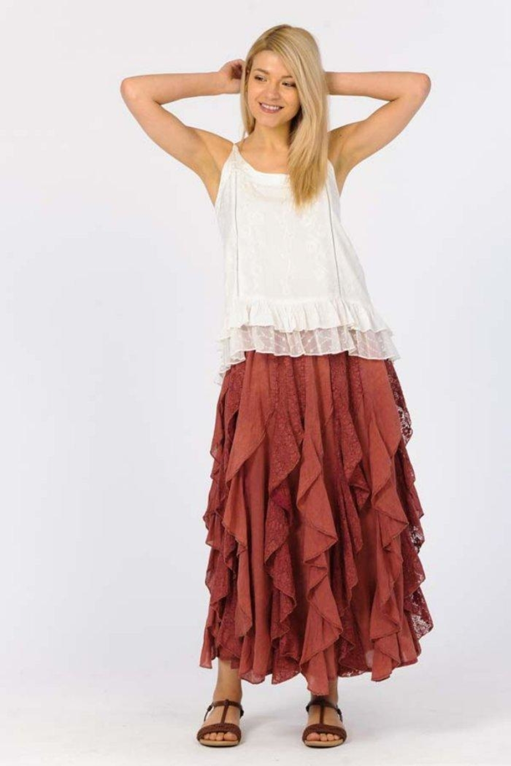 Apparel Love Ruffled Maxi Skirt - Front Cropped Image