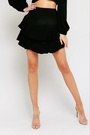 Olivaceous Ruffled Mini Skirt - Front cropped