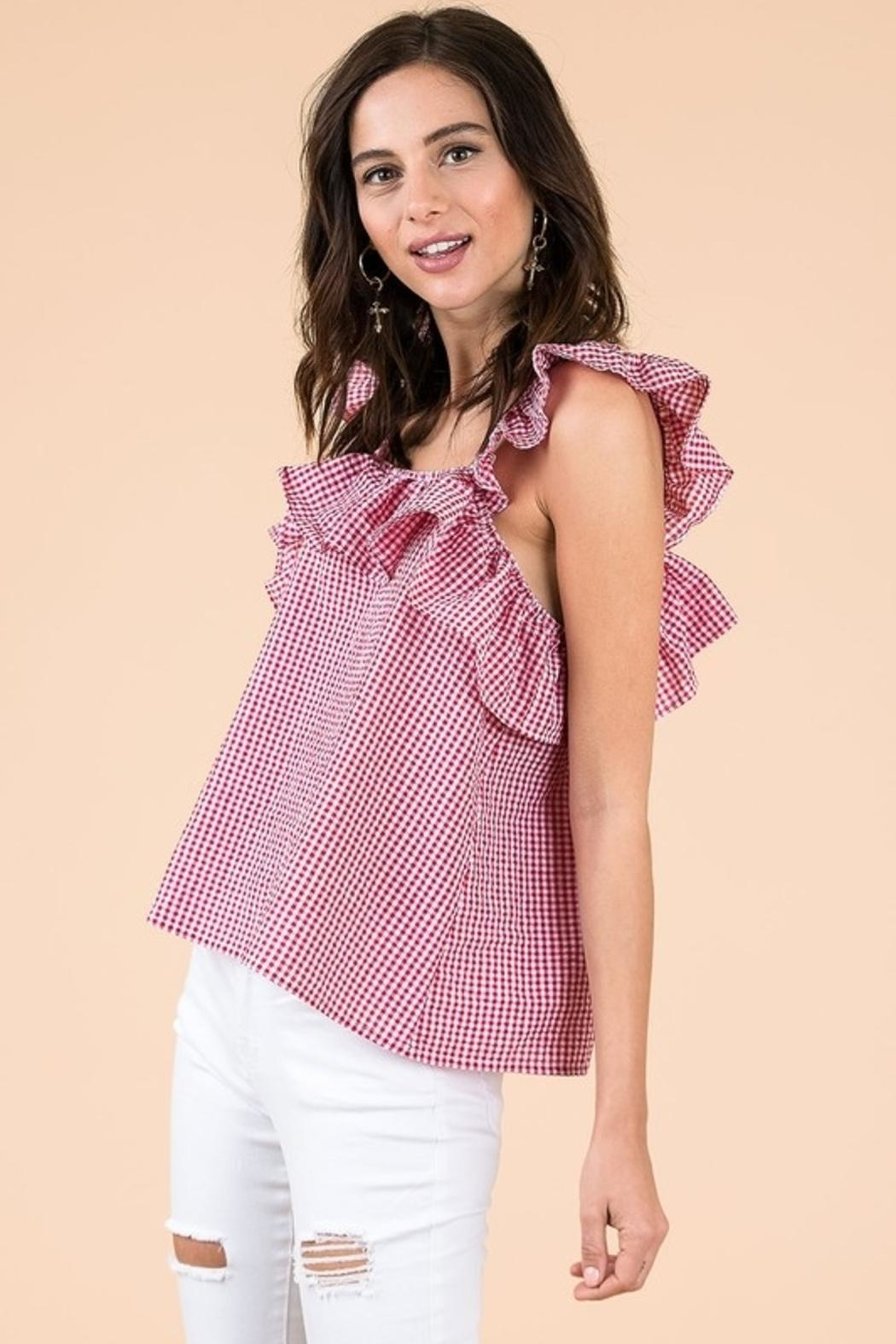 &merci Ruffled Picnic Top - Front Full Image