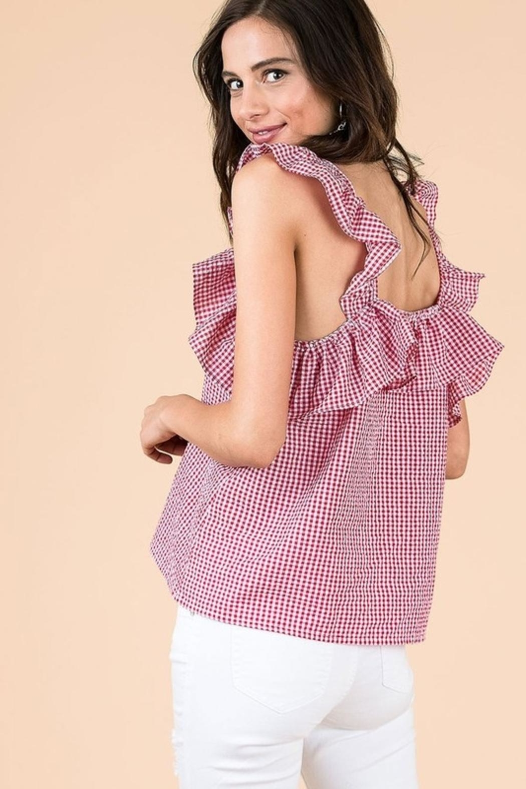 &merci Ruffled Picnic Top - Side Cropped Image