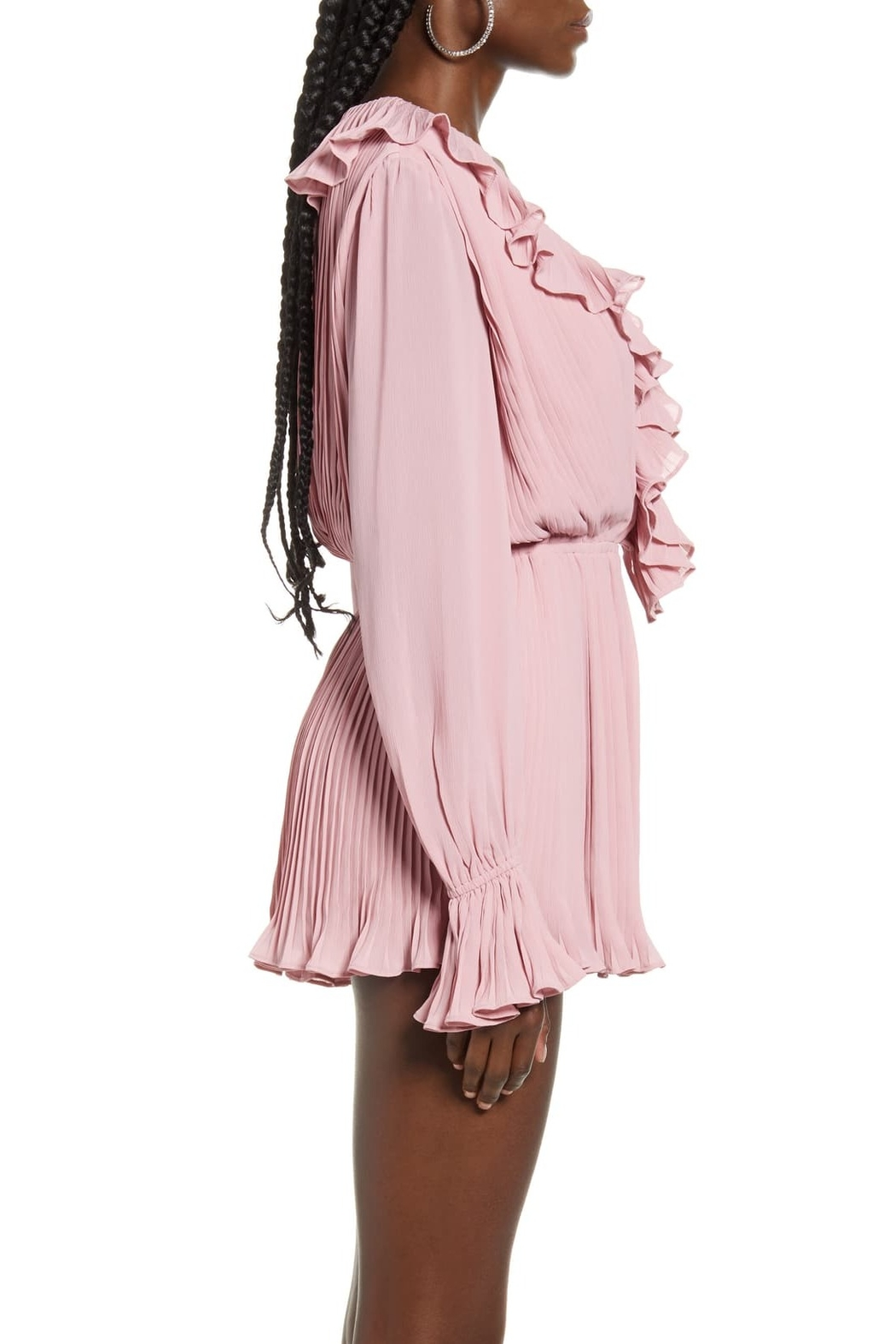 Endless Rose Ruffled Pleat Romper - Side Cropped Image