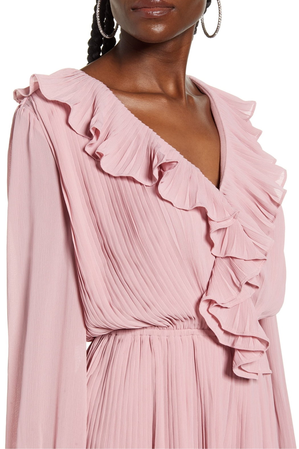 Endless Rose Ruffled Pleat Romper - Back Cropped Image