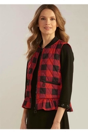 Charlie Paige Ruffled Puffer Vest - Product Mini Image