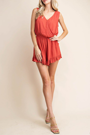 Kori Ruffled Romper - Product Mini Image