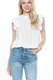 En Creme Ruffled Short-Sleeve Top - Product Mini Image
