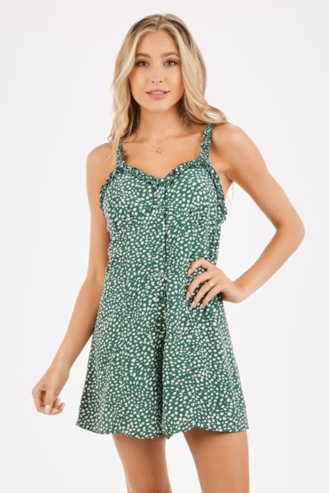 Very J  Ruffled Sleeve Romper - Main Image