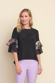 Joseph Ribkoff  Ruffled Sleeve Top - Product Mini Image