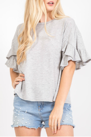 LoveRiche Ruffled sleeve top - Product Mini Image